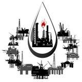 Mijnbouw en uit:hakken-5 vector illustratie