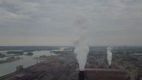 Mijnbouw en verwerkingsinstallatie, het lucht schieten stock videobeelden