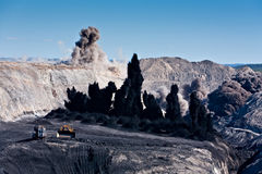 Mijnbouw Explosie Royalty-vrije Stock Afbeelding