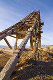 Mijnbouw Headframe royalty-vrije stock foto