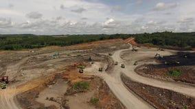 Mijnbouw Luchtborneo Indonesië stock videobeelden