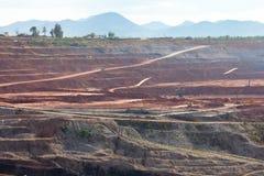 Mijnbouw in open kuil Stock Foto's