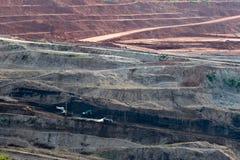 Mijnbouw in open kuil Stock Foto