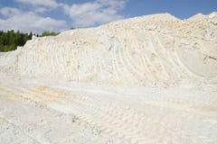 Mijnbouw van zuiver wit kaoliniet Stock Fotografie