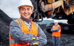 Mijnbouwarbeiders stock fotografie