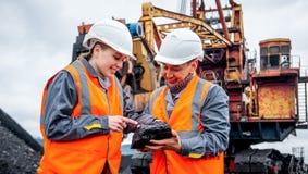 Mijnbouwarbeiders stock foto