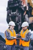 Mijnbouwarbeiders stock afbeelding