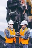 Mijnbouwarbeiders royalty-vrije stock afbeelding