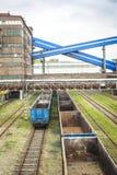 Mijnbouwinfrastructuur in het gebied van Silesië, Polen Stock Afbeelding