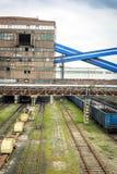 Mijnbouwinfrastructuur in het gebied van Silesië, Polen Royalty-vrije Stock Afbeeldingen