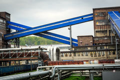 Mijnbouwinfrastructuur in het gebied van Silesië, Polen Royalty-vrije Stock Foto's