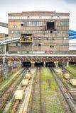 Mijnbouwinfrastructuur in het gebied van Silesië, Polen Royalty-vrije Stock Fotografie