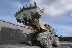Mijnbouwmateriaal Bulldozer Royalty-vrije Stock Foto's