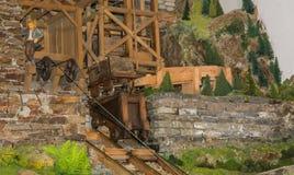 Mijnbouwmuseum de Zuid- van Tirol De mijn ridanna-Monteneve was in operati Stock Afbeeldingen