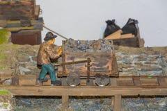 Mijnbouwmuseum de Zuid- van Tirol De mijn ridanna-Monteneve was in operati Royalty-vrije Stock Afbeeldingen