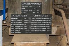 Mijnbouwmuseum de Zuid- van Tirol De mijn ridanna-Monteneve was in operati Royalty-vrije Stock Fotografie