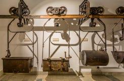 Mijnbouwmuseum de Zuid- van Tirol De mijn ridanna-Monteneve was in operati Royalty-vrije Stock Afbeelding