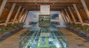 Mijnbouwmuseum de Zuid- van Tirol De mijn ridanna-Monteneve was in operati Stock Afbeelding