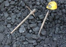 Mijnbouwsteenkool Stock Foto