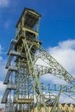 Mijnbouwtoren als gedenkteken Stock Afbeeldingen