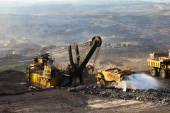 Mijnbouwvrachtwagen het werken Stock Afbeelding