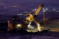 Mijnbouwvrachtwagen het werken Royalty-vrije Stock Fotografie