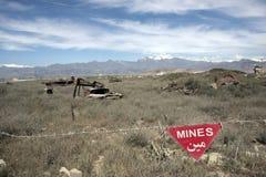 Mijnen in Afghanistan Stock Foto