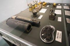 mijnen en bommen in het Museum royalty-vrije stock foto's