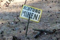 mijnenveld Stock Foto