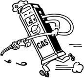 Mijnheer Gas Pump Royalty-vrije Stock Afbeeldingen