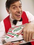 Mijnheer pizza. royalty-vrije stock fotografie