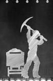 Mijnwerker in Butte Royalty-vrije Stock Afbeeldingen