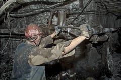 Mijnwerker in een mijn Royalty-vrije Stock Foto