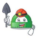 Mijnwerkersgradenboog op de mascottelijst royalty-vrije illustratie