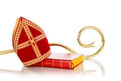 Free Mijter And Staff Of Sinterklaas Royalty Free Stock Photos - 58205478