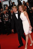 Mika Hakkinen, Marketa Kromatova Royalty Free Stock Images