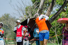 Mika Miyazato of Japan in Honda LPGA Thailand 2016 Stock Photography