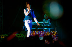 Mika performs on the Orange Summer Party Festival Royalty Free Stock Images