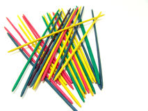 Mikado, a game of skill. Mikado is a pick-up sticks game originating in Europe Royalty Free Stock Images