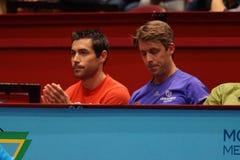Mikael Tillstrom (Coach of Gael Monfils) and Gaetan Olivier (physio of Gael Monfils) Stock Photos