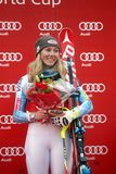 Mikaela Shiffrin  2015 World Cup in Meribel Stock Photography