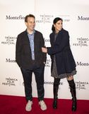 Mike Birbiglia and Sarah Silverman at Tribeca Storytellers at 2019 Tribeca Film Festival. Comedians and actors Mike Birbiglia and Sarah Silverman attend the ` stock photography