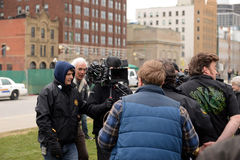 Mike Clattenburg dirige o filme dos meninos do parque de caravanas Fotos de Stock