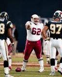 Mike Devlin #62, Arizona Cardinalsmitt Fotografering för Bildbyråer