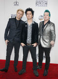 Mike Dirnt, Billie Joe Armstrong and Tre Cool Stock Photography