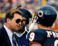 Mike Ditka and Jim McMahon Chicago Bears Stock Photo