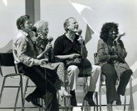 Mike Douglas, Fran Allison, Burr Tillstrom, et Gloria Gaynor Photographie stock libre de droits