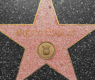 Mike Douglas-' Stern auf dem Hollywood-Weg des Ruhmes in Los Angeles stockfotografie