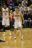 Mike Dunleavy 17 and Danny Granger 33 defending Royalty Free Stock Photo