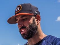Mike Fiers Houston Astros 2017 imagem de stock